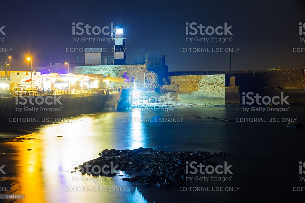 Templar Fortress in Acre stock photo