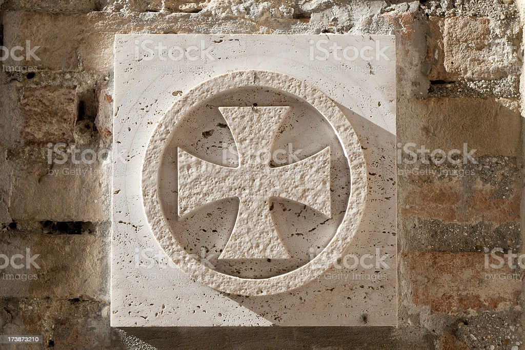 Templar Knight Cross stock photo