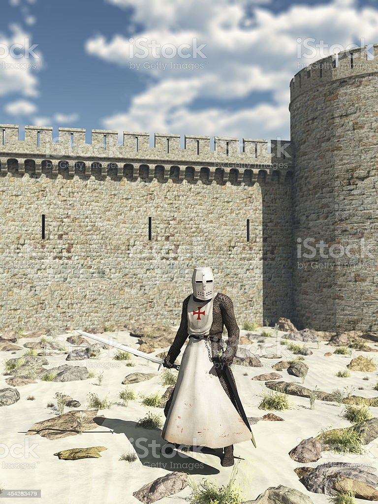 Templar Knight outside the Walls of Antioch royalty-free stock photo