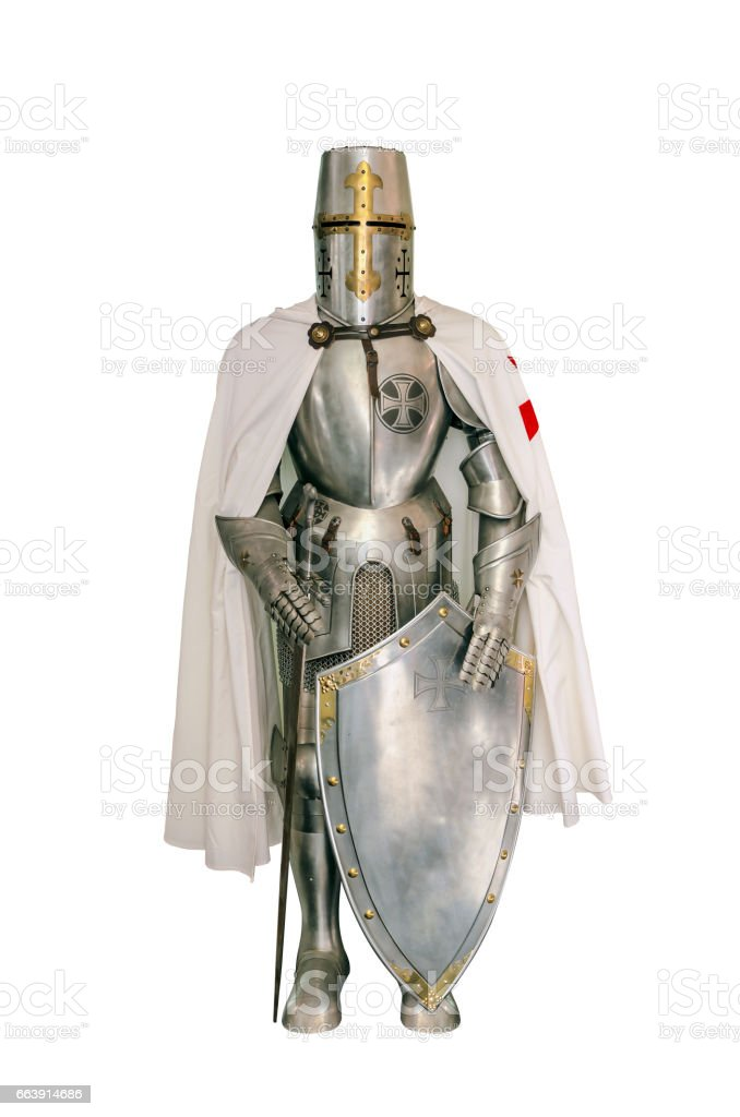 Templar knight stock photo