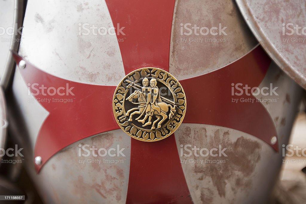 Templar knights seal stock photo