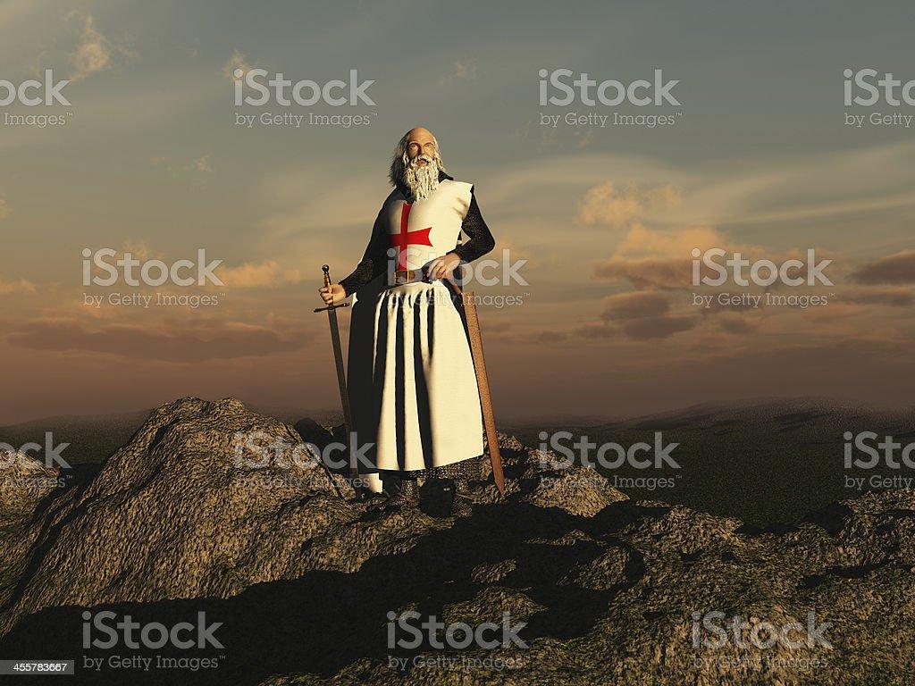 Templar stock photo