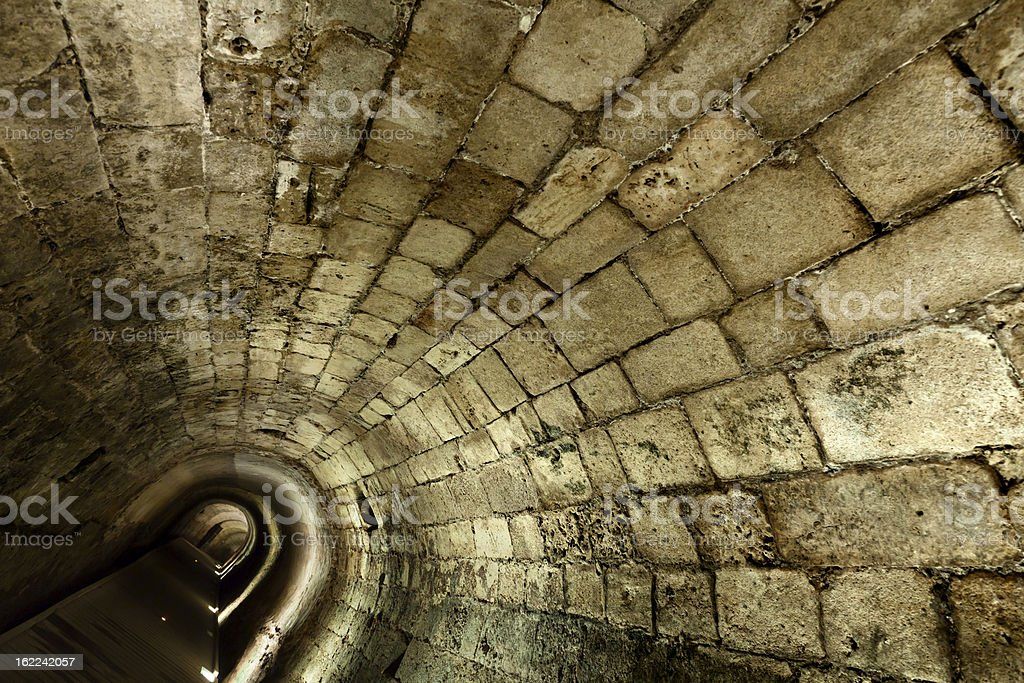 Templar Tunnel in Acco royalty-free stock photo