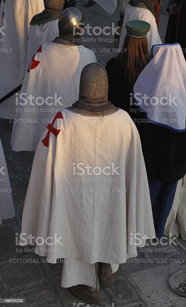 Templars royalty-free stock photo