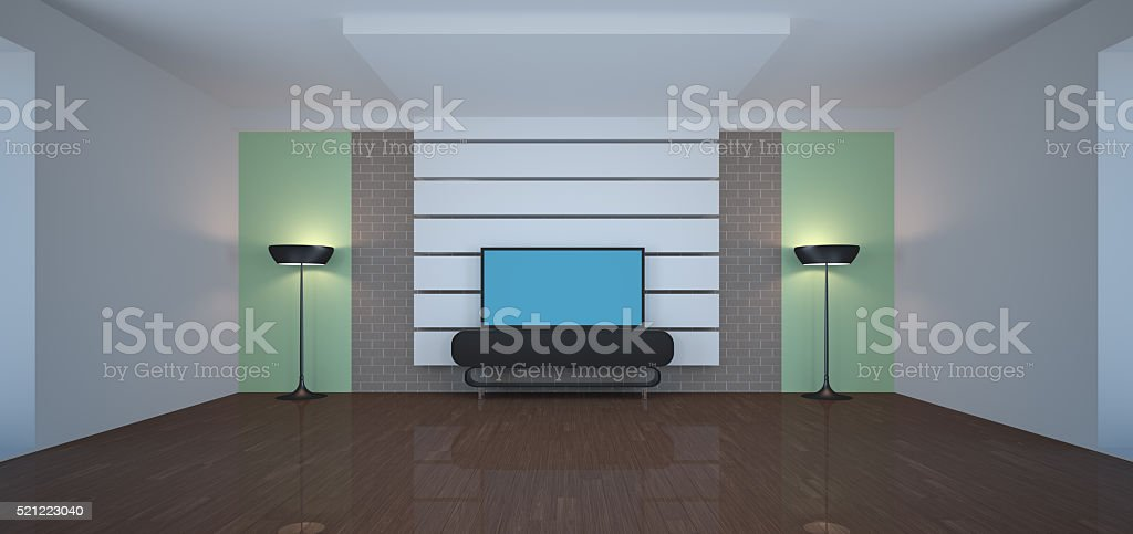 Template 3d interior stock photo