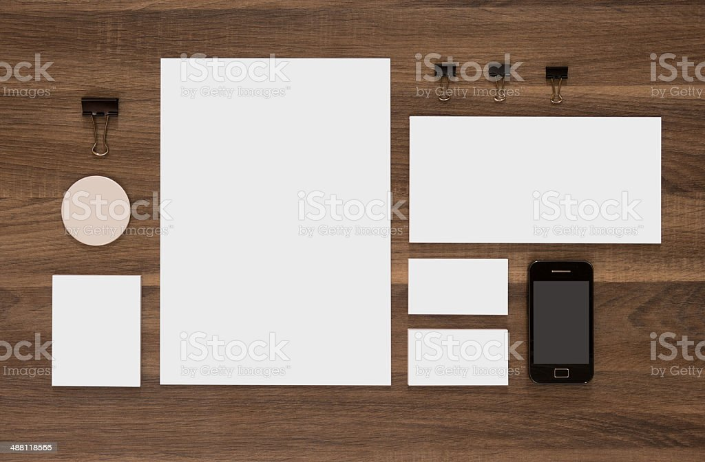 Template branding identity for graphic designers. stock photo