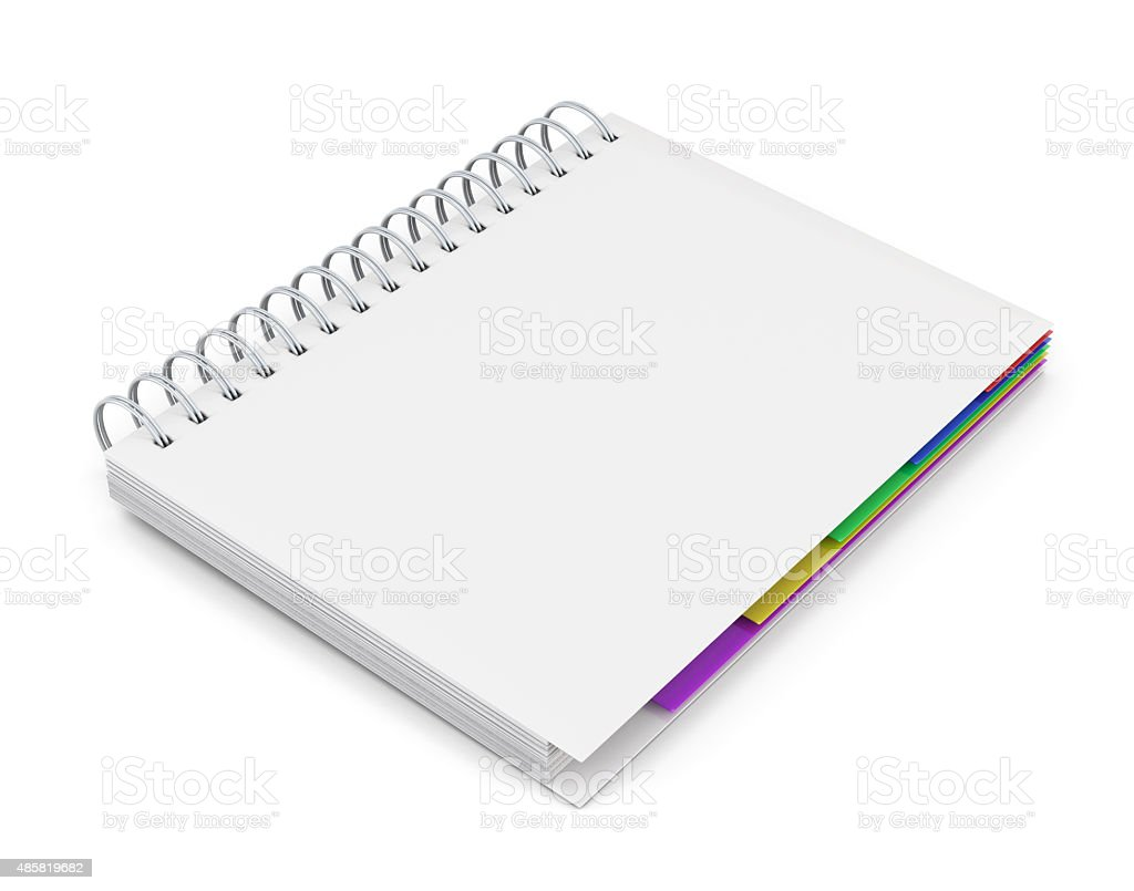 Template diary with a white cover stock photo