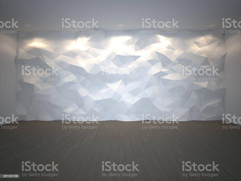 Template empty 3d interior stock photo