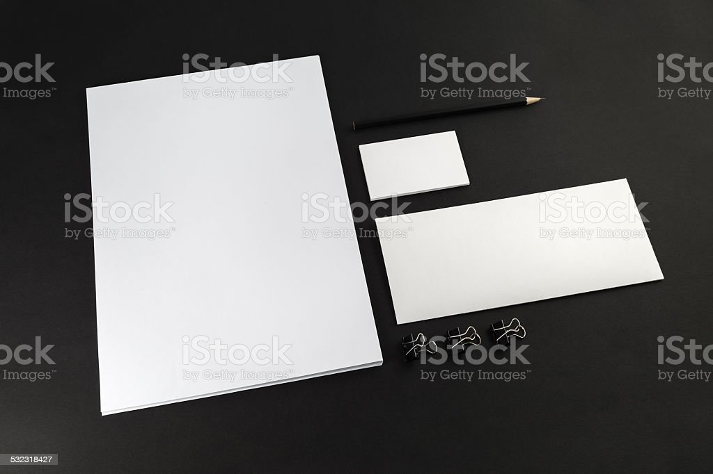 Template for ID stock photo