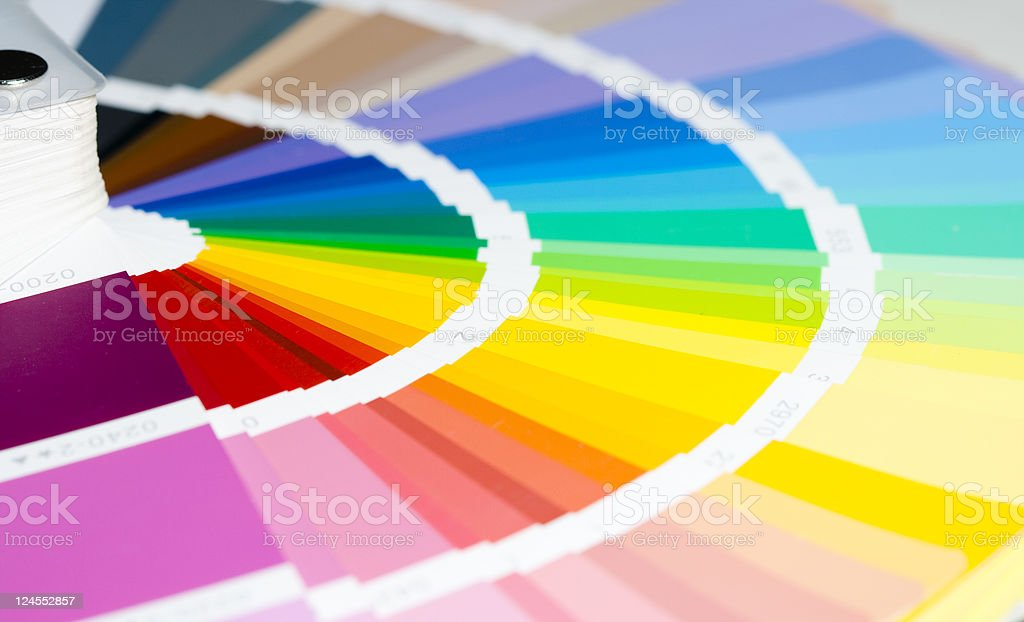 A template from a color swatch with rich colors stock photo