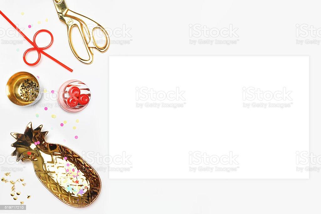 menu de modelos. Quadro branco. Fundo de festa foto royalty-free