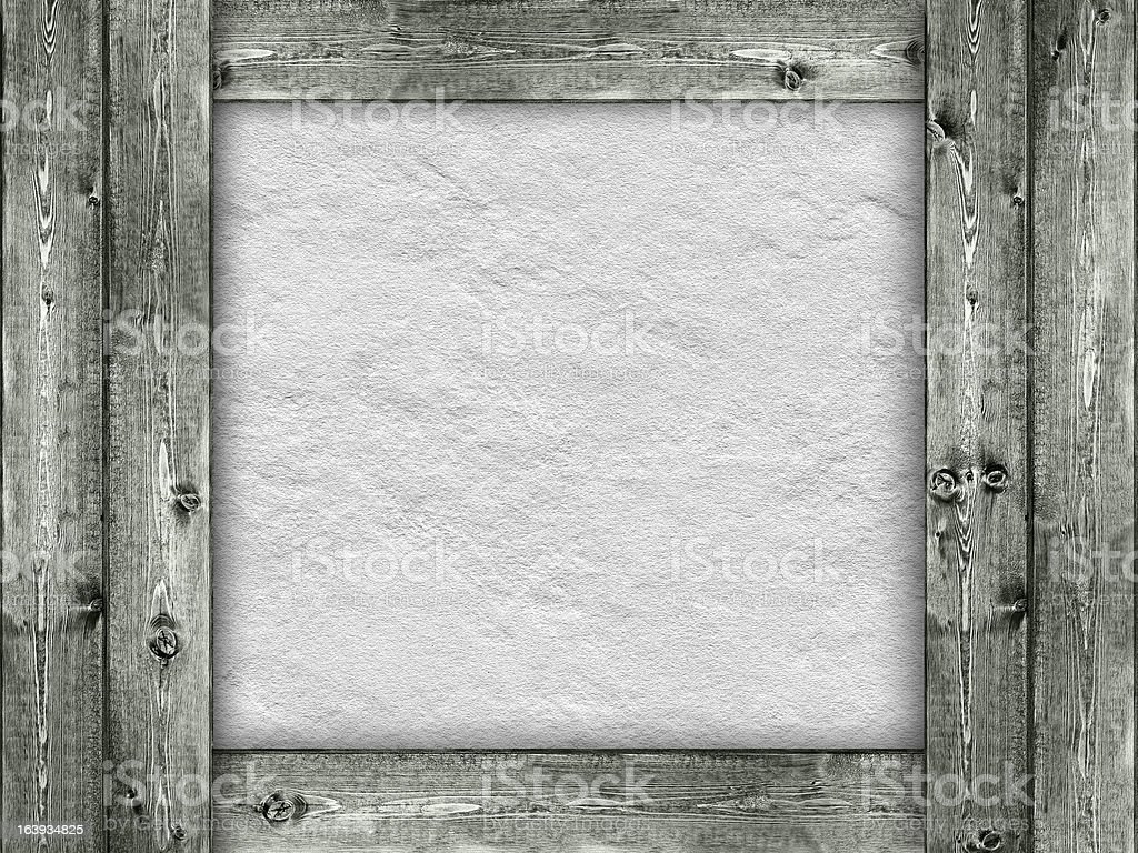 Template - wood and rough wall background royalty-free stock photo