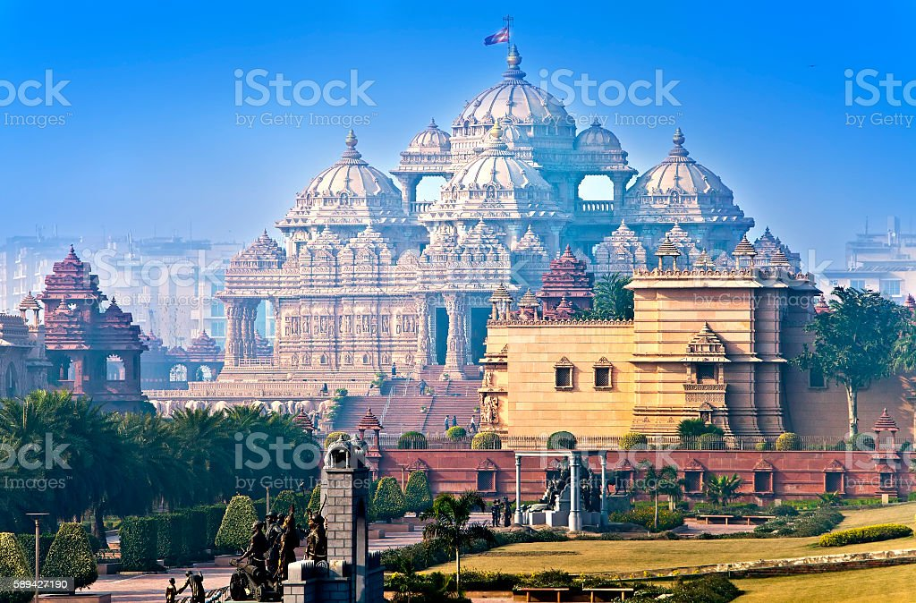 temple Akshardham, Delhi, India stock photo