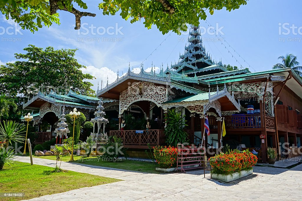 temple and pagoda in thailand stock photo