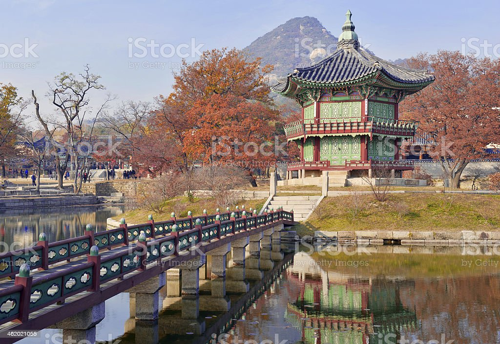 Temple and Palace Traditional Architecture, Seoul, South Korea stock photo
