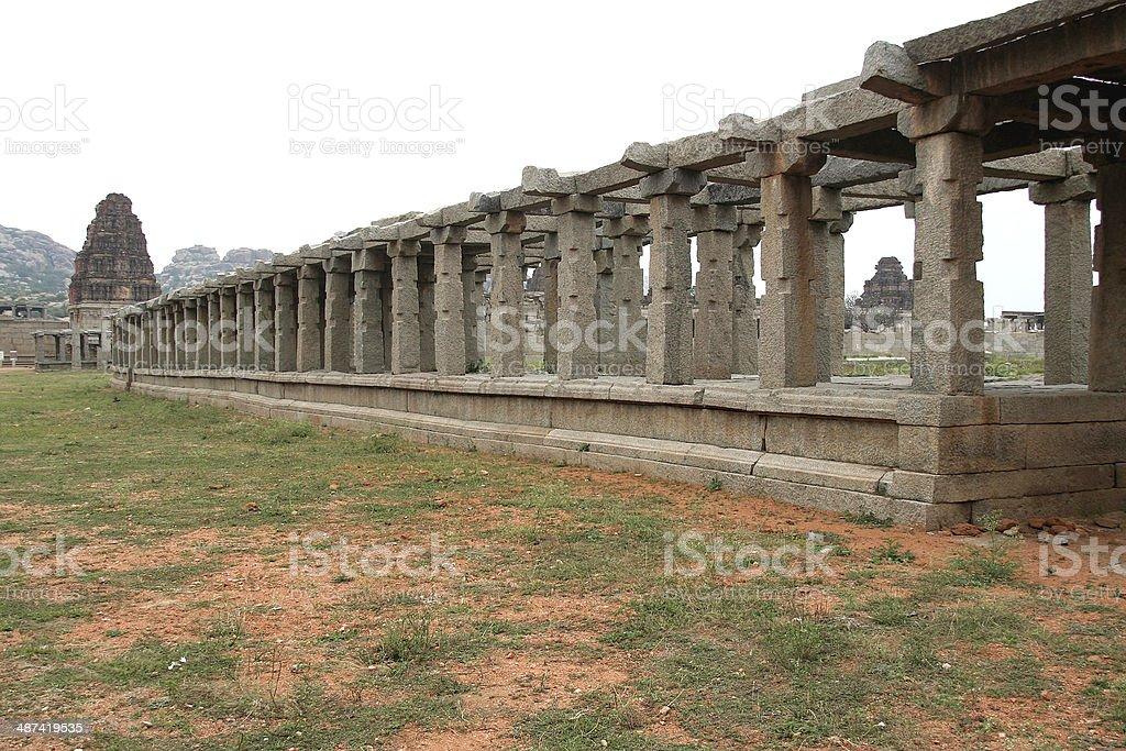 Temple and Stone Corridor stock photo