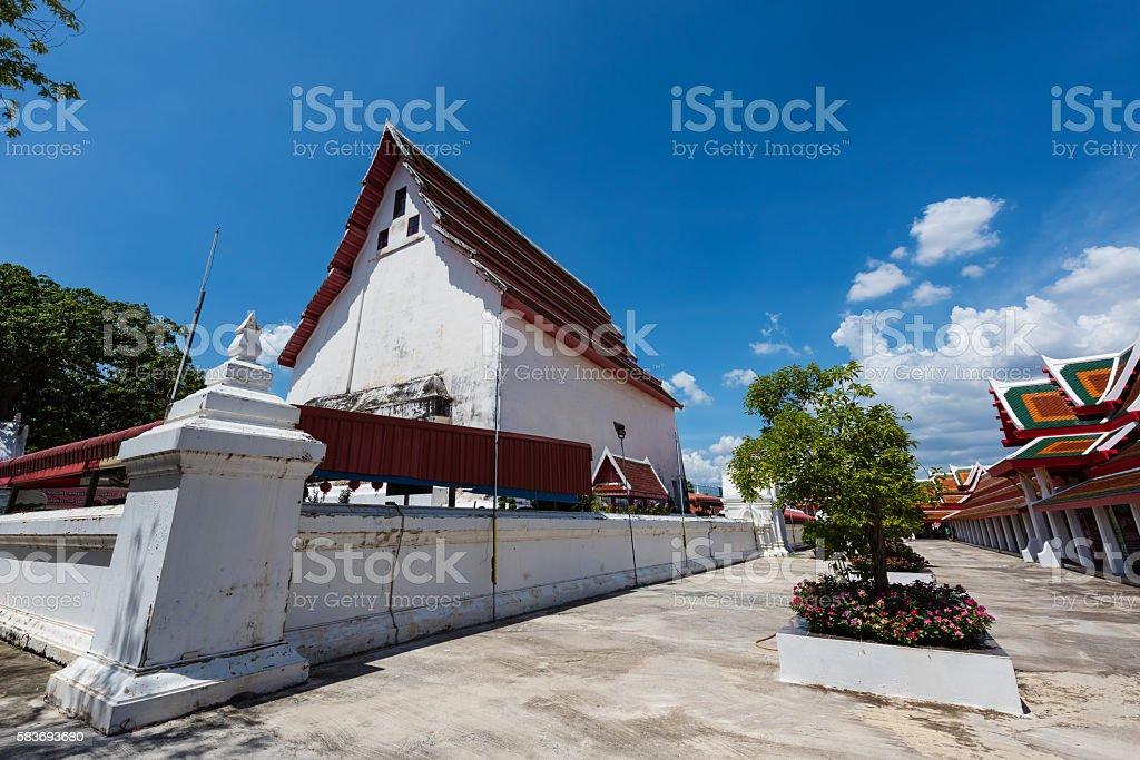 Temple architecture of Wat Palelai, Suaphanburi, stock photo