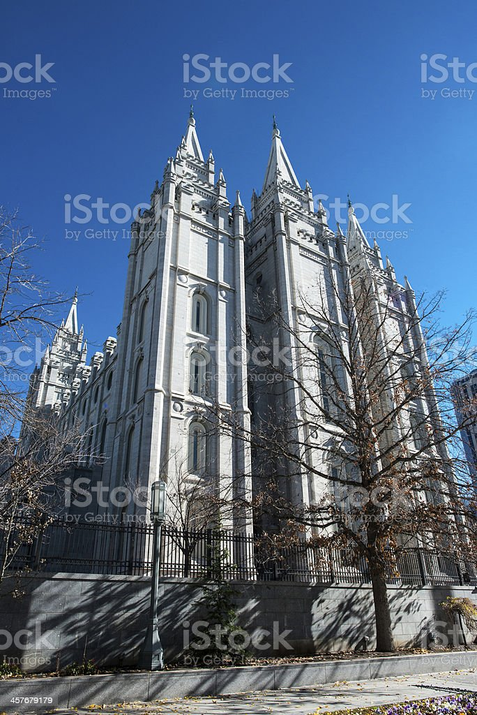 Temple at Salt Lake City stock photo