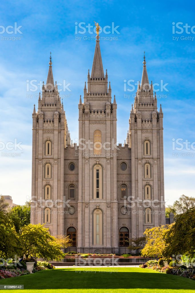 Temple at Salt Lake City stock photo