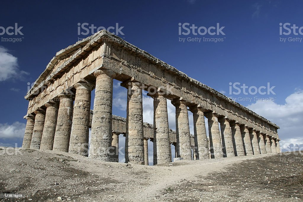 Temple at Segesta in Sicily royalty-free stock photo