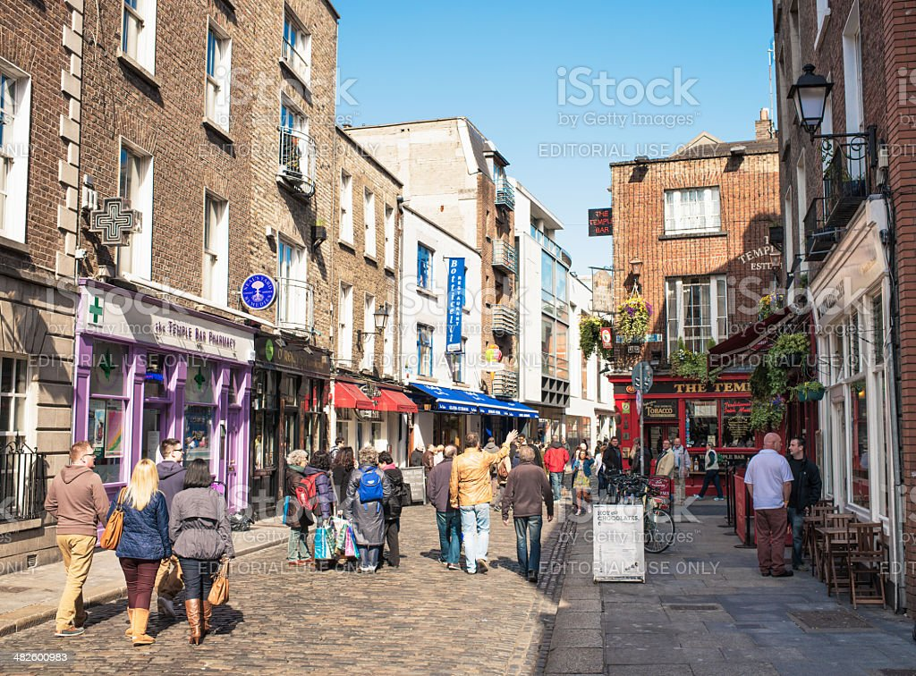 Temple Bar area of Dublin stock photo