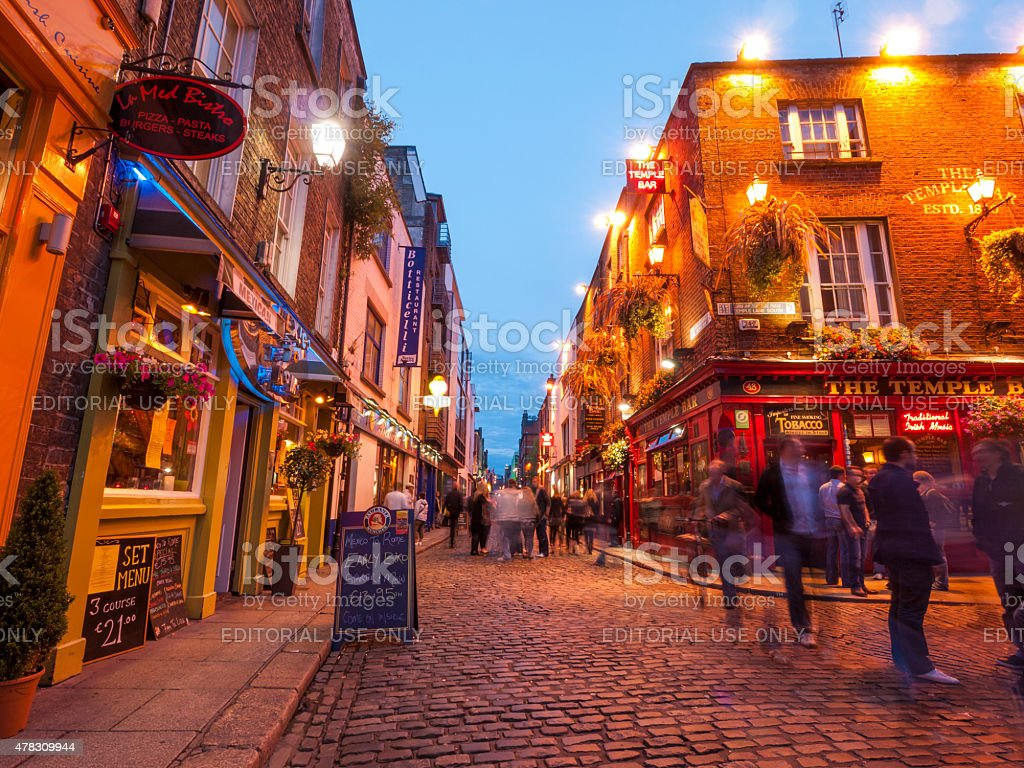 Temple Bar district of Dublin, Ireland stock photo