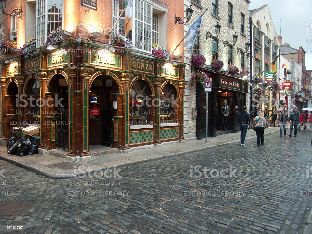 Temple Bar quarter  in Dublin stock photo