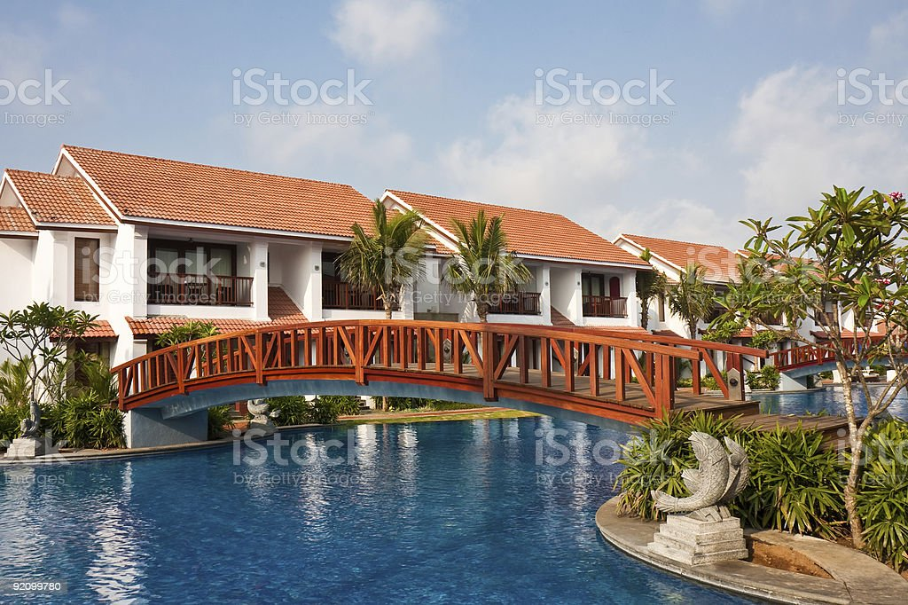 Temple Bay Resort in India royalty-free stock photo
