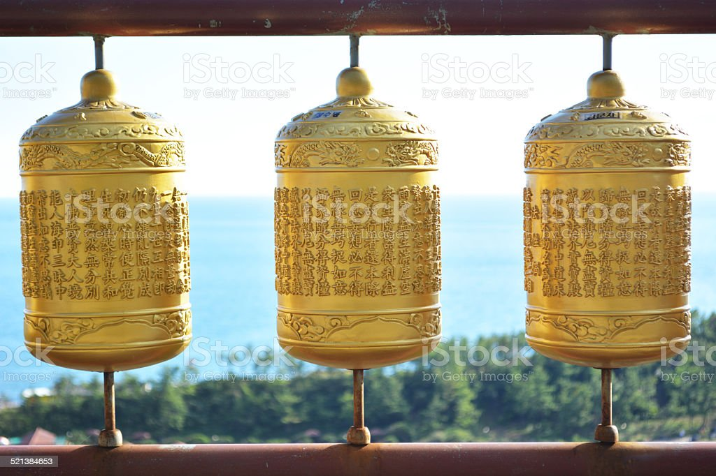 temple bell stock photo