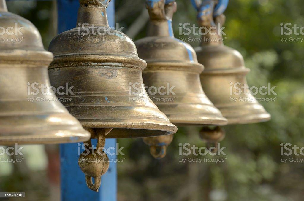 Temple Bells stock photo