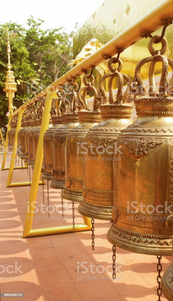 Temple bells stock photo