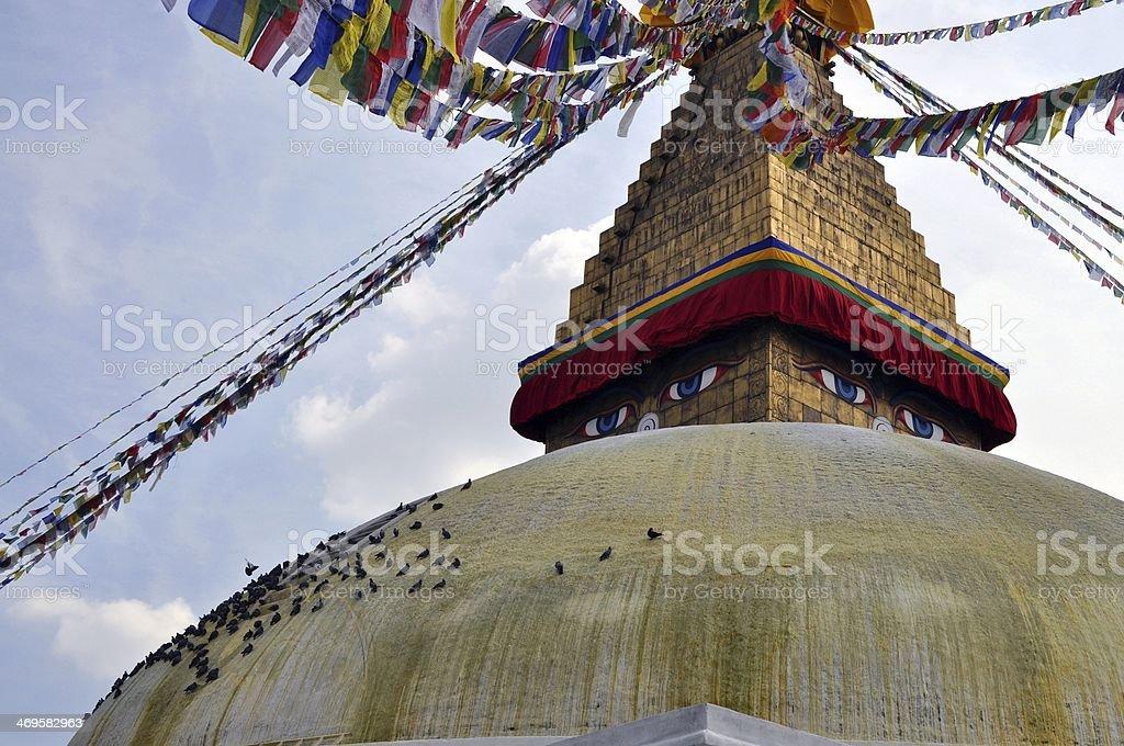 Temple Bodnath Stupa stock photo