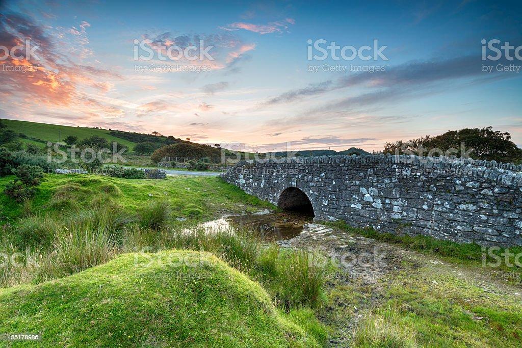 Temple Bridge on Bodmin Moor stock photo