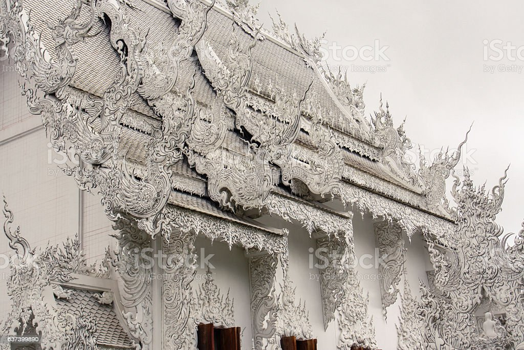 Temple Buddhist temple in Chiang Rai Province, Thailand. stock photo