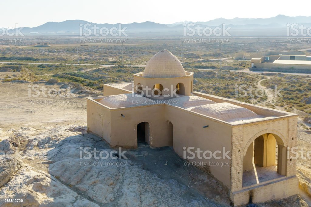 Temple by Vazaneh in Iran in Isfahan province stock photo