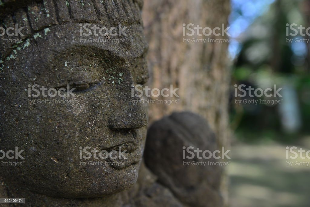 Temple carving art of Chinese culture - stock photo
