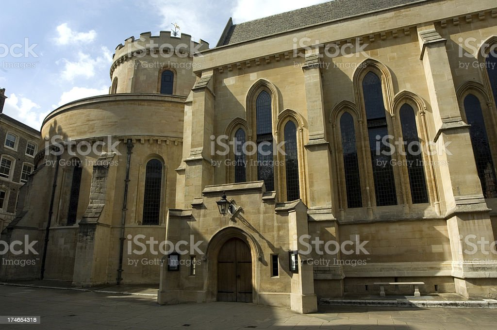 Temple Church stock photo