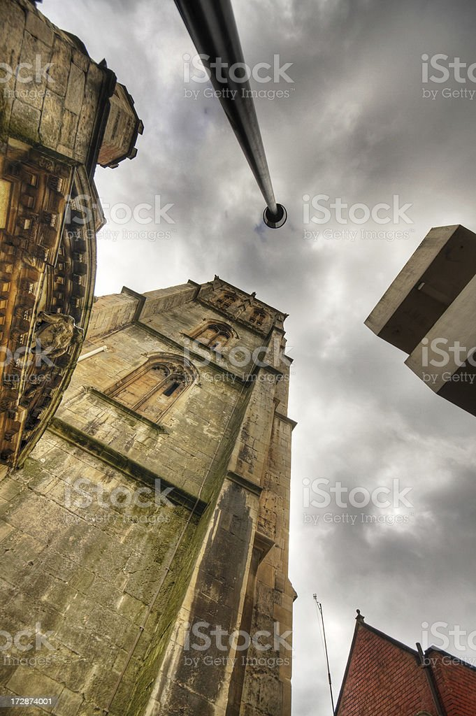 Temple Church Tower, Bristol royalty-free stock photo