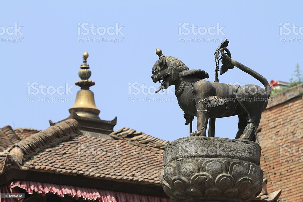 Tempelstadt Bhaktapur in Kathmandu Nepal stock photo