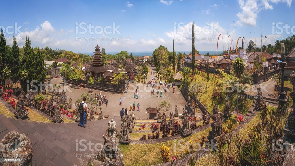 Temple Complex of Besakih, Bali, Indonesia stock photo