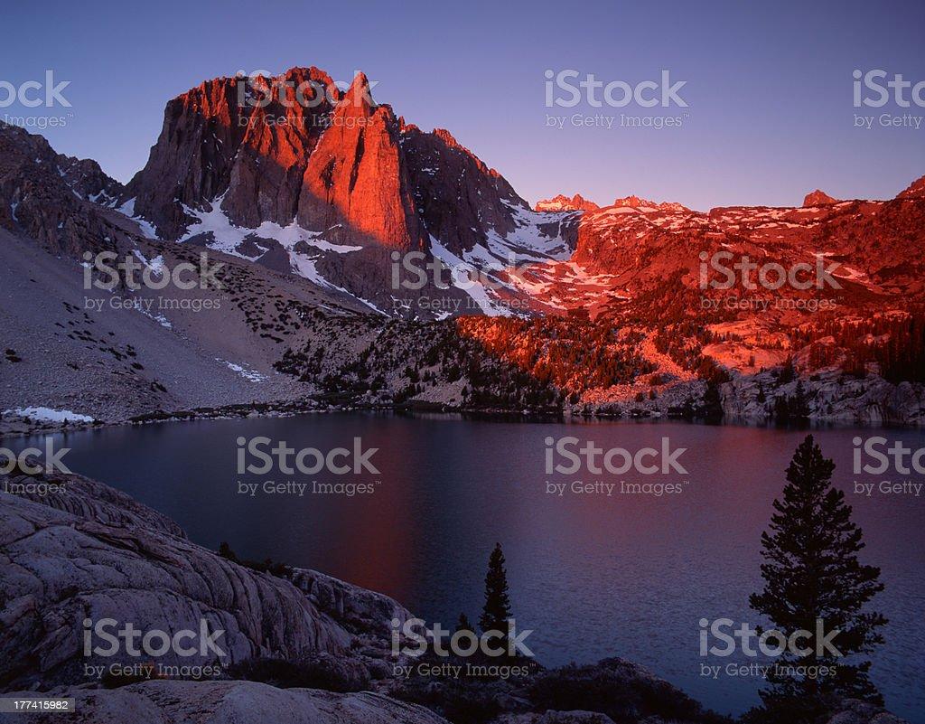 Temple Crag at Dawn, Eastern Sierra Nevada Range royalty-free stock photo