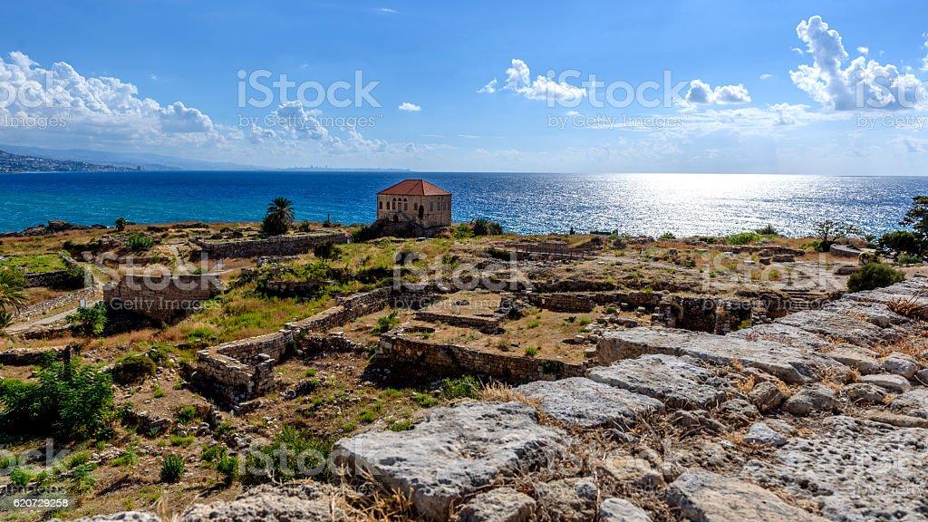 Temple de Bacchus of Byblos stock photo