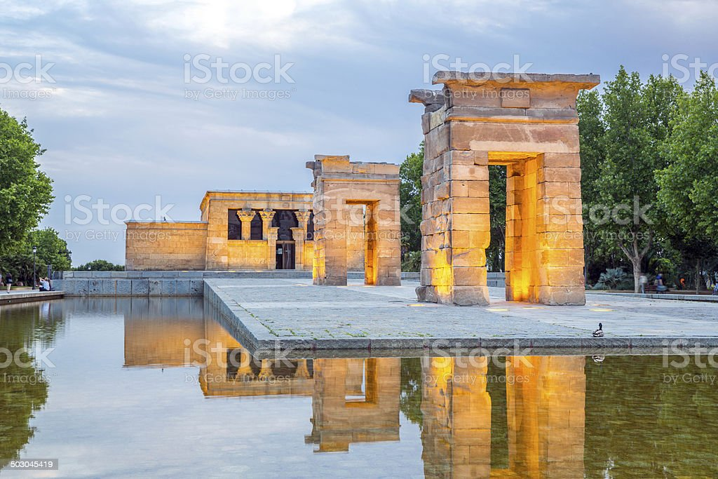 Temple de debod Madrid stock photo