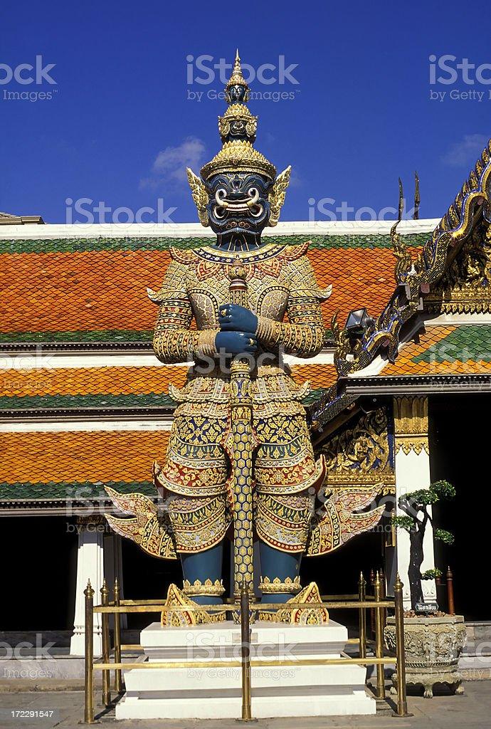temple demon wat phra kaeo bangkok thailand royalty-free stock photo