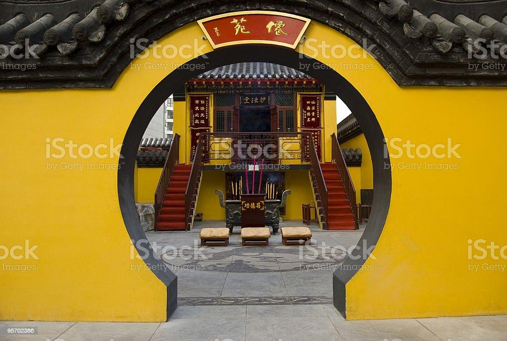 Temple Door stock photo