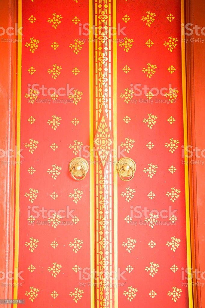 Temple door texture stock photo
