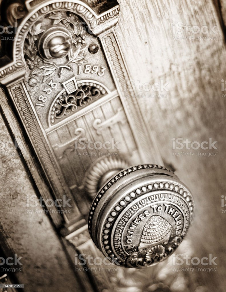 SL Temple Doorknob stock photo