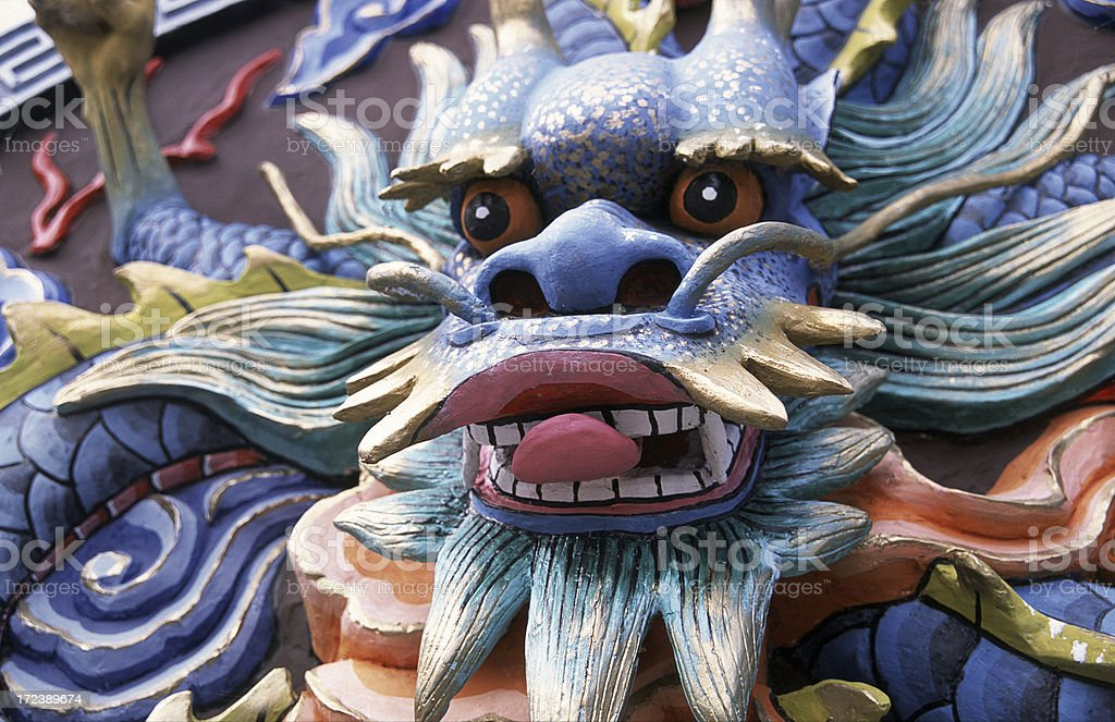 Temple dragon on wall royalty-free stock photo
