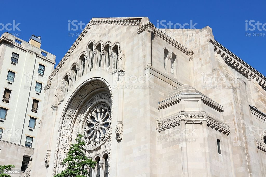 Temple Emanuel Synagogue stock photo