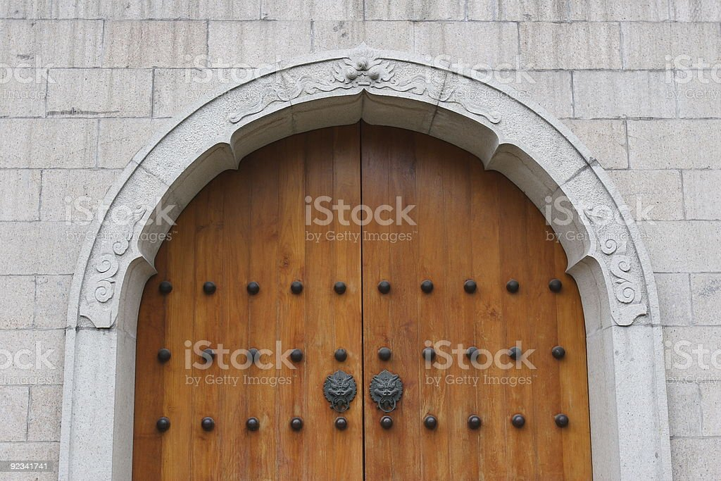 Temple entrance in China royalty-free stock photo